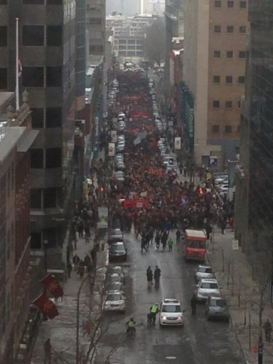 montreal march feb 26 arial shot
