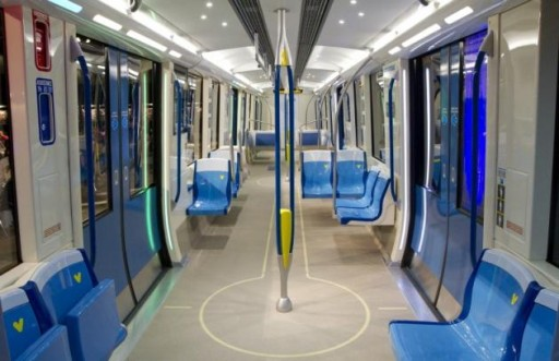 new montreal metro car interior