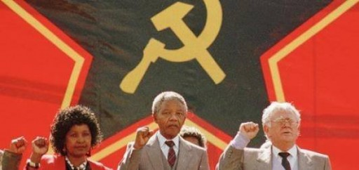 mandela communist flag