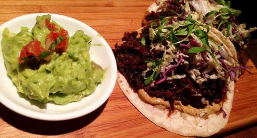 Tacos and guac at Joverse