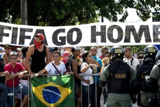 world cup protest
