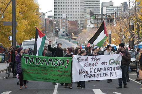 montreal gaza protest