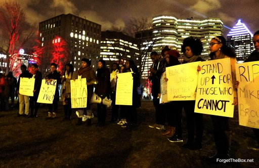 Black Lives Matter - In Solidarity with Ferguson Montreal vigil (5)