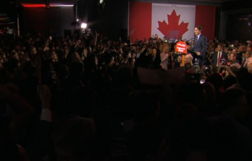 justin trudeau election night