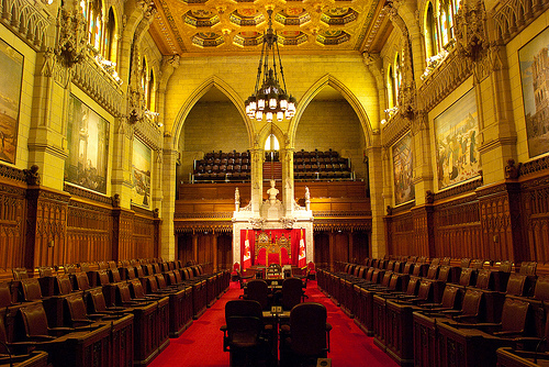 The Canadian Senate chambre (image: Johnath / flickr, Creative Commons)