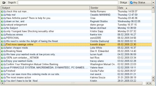 Spammed-mail-folder