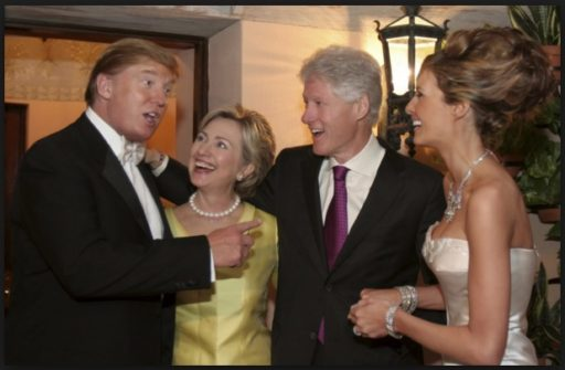 trump and clintons