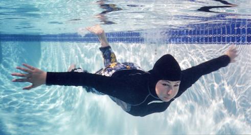 burkini underwater